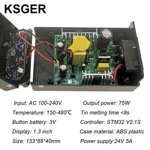Image 3 - KSGER STM32 OLED V2.1S T12 محطة لحام لتقوم بها بنفسك أطقم رقمية متحكم في درجة الحرارة الإلكترونية لحام سبيكة لحام نصائح