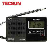 TECSUN PL-118 Ultra-Light Mini Radio PLL DSP Banda FM Radio Internet Portatil Am Fm Radio FM: 76.0-108MH/87.0-108 MHz(China)