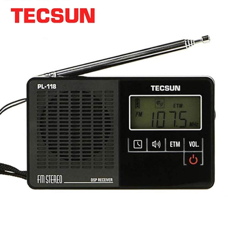 TECSUN PL-118 Ultra-Light <font><b>Mini</b></font> Radio PLL <font><b>DSP</b></font> FM Band Radio Internet Portatil Am Fm Radio FM:76.0-108MH /87.0-108MHz image