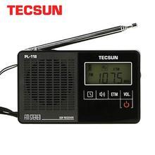 Tecsun PL 118 ultra leve mini rádio pll dsp fm band rádio internet portatil am fm rádio fm: 76.0 108mh/87.0 108 mhz