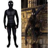 Spider Man Far From Home Stealth Suit Costume Spiderman Noir Cosplay Black Bodysuit Zentai Jumpsuits Superhero Halloween costume