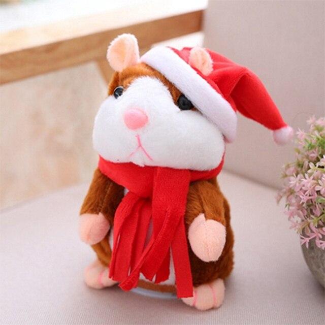Talking Hamster Mouse Pet Christmas Toy Speak Talking Sound Record Hamster Educational Plush Toy for Children Christmas Gift 5