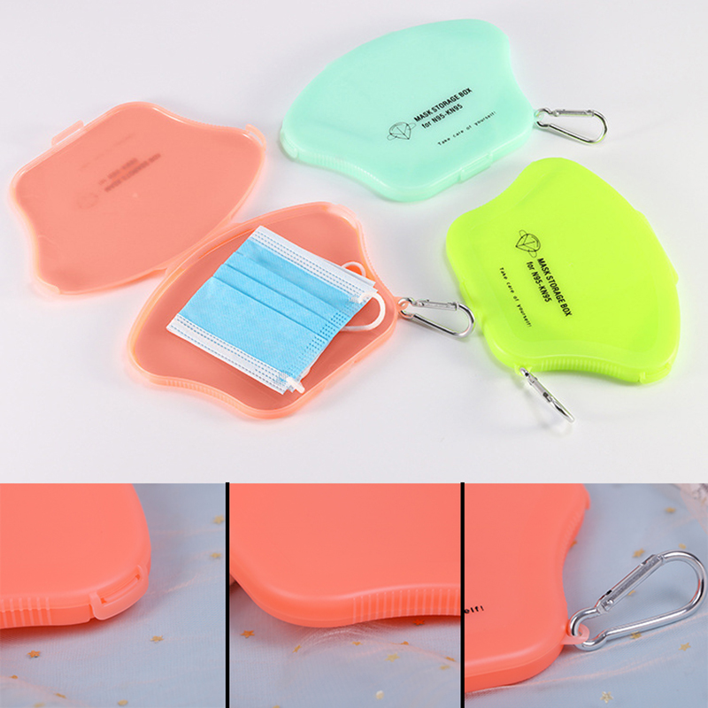 1 PC New Portable N95 Face Mask Storage Organizer Dustproof Box Container Holder Case Storage(China)
