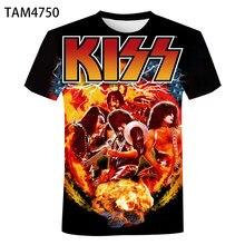 New Short Sleeve Kiss Rock Band 3D T-Shirt Printed Men Women Children Summer Cool Streetwear Fashion Boy Girl Kids Top