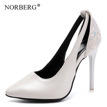 NORBERG ShoesWomens sandals New Patent Leather Wonen Pumps Fashion Office Shoes Women Sexy High Heels Womens Wedding
