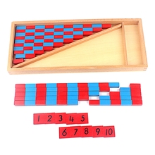 Wooden Preschool Training Kid Math Toy Numerical Rods With Red&Blue Number Rods Math Montessori Learning Material Math Game mental math revamp the learning
