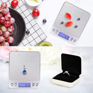Image 4 - Портативные точные мини электронные весы, Карманный чехол для почты, кухни, ювелирных изделий, баланс веса, цифровой Вес г, ЖК дисплей