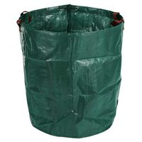 270L Garden Waste Bag Large Strong Waterproof Heavy Duty Reusable Foldable Rubbish Grass Sack|Waste Bins| |  -