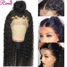 360 Lace Front Human Hair Wig For Black Brazilian Water Wave Wig Transparent Lace Front Wig Pre Plucked with Baby Hair Remy