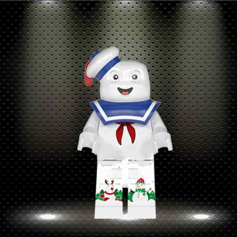 Stay puft ed boże narodzenie klocki Gingerbread Man Inhumans rodzina królewska Buzz Lightyear figurki dla dzieci zabawki WM859