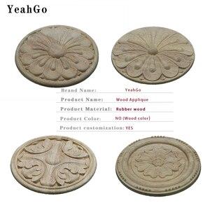 Image 5 - YeahGo, meubles en bois style européen, décoration murale pour la maison, décalcomanies de sculpture sur bois et accessoires dapplication sur bois