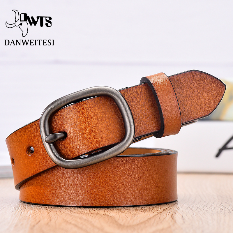 【DWTS】Women Belt Designer Women Female Belt Genuine  Leather Belts For Women Female Belt Pin Buckles Fancy Vintage For Jeans
