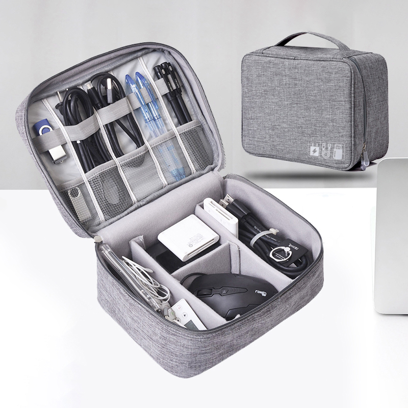 Travel Cable Bag Cosmetic Makeup Organizers Wire Charger Electronic Gadgets Case Toiletry Kit Bathroom Storage Accessories Item