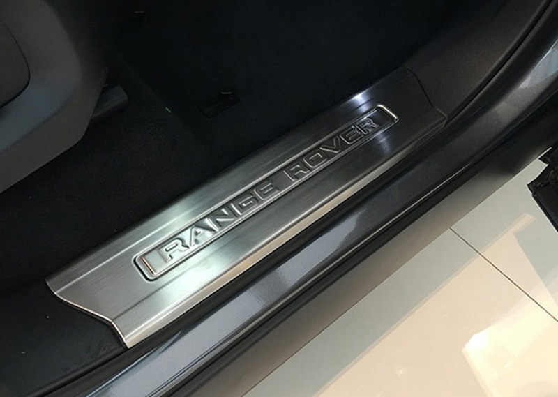 Replace White LED Door sill scuff plate Guard trim For Range Rover sport 2014-up