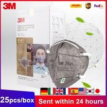 3M KN95 masques emballage individuel 9541 Earloop / 9542 bandeau particules protecteur jetable charbon actif visage bouche masque