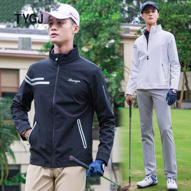 New Mens Jacket Golf Clothing 2019 20 Autumn Winter Windproof Tops Golf Apparel Warm Slim Outdoor Sportswear Shirt