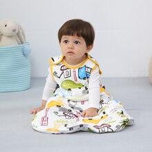 Bed Sack Sleeping-Bag Baby Anti-Kick-Clothes Winter Cartoon Children Sleeveless Warm