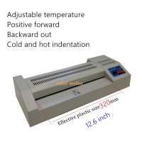 12.6inch roll laminated film Photo coating laminating machine Thermo plastic Film Covering hot cool film Pressing laminator