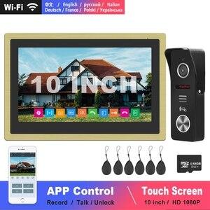 Image 1 - Diagonsview 10 Inch Video Intercom Wifi Intercom Draadloze Ip Telefoon Intercom Systeem Hd Deur Intercom Camera Vegen Kaarten Unlock