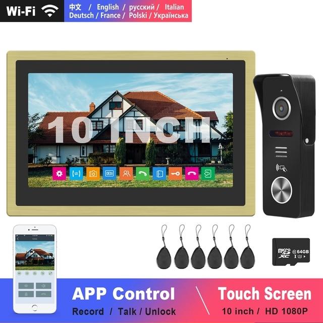 Diagonsview 10 Inch Video Intercom Wifi Intercom Draadloze Ip Telefoon Intercom Systeem Hd Deur Intercom Camera Vegen Kaarten Unlock