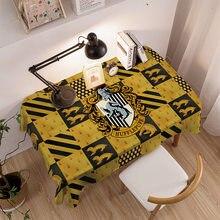 Pano de mesa de estudo potter à prova dwaterproof água toalha de mesa retangular decoração jantar oilcloth padrão dos desenhos animados esteira de mesa de café