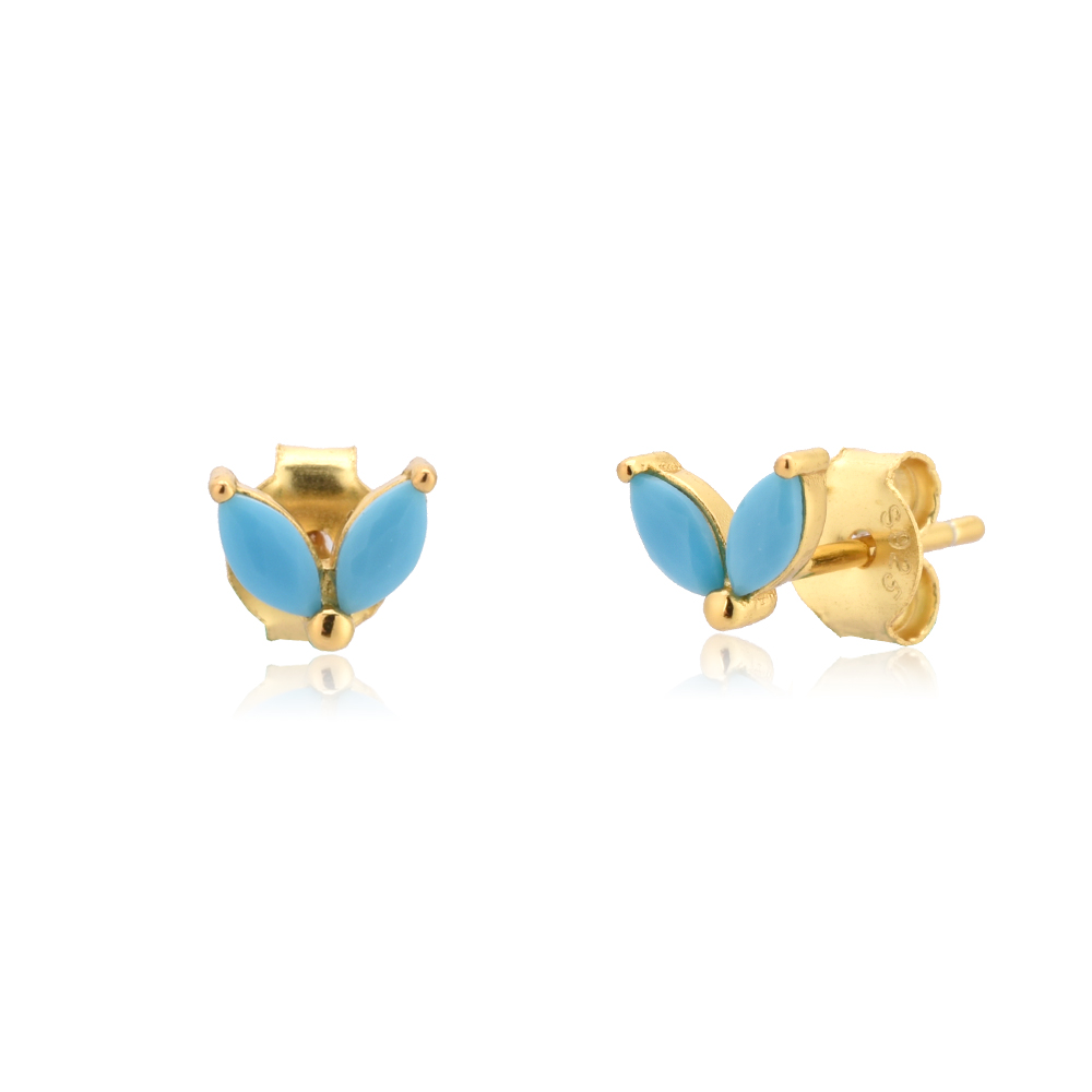 ANDYWEN 925 Sterling Silver Summer Colorful Turquoise Drop Earring Rose Red Rainbow Luxury Jewelry Mix For Women Wholesale