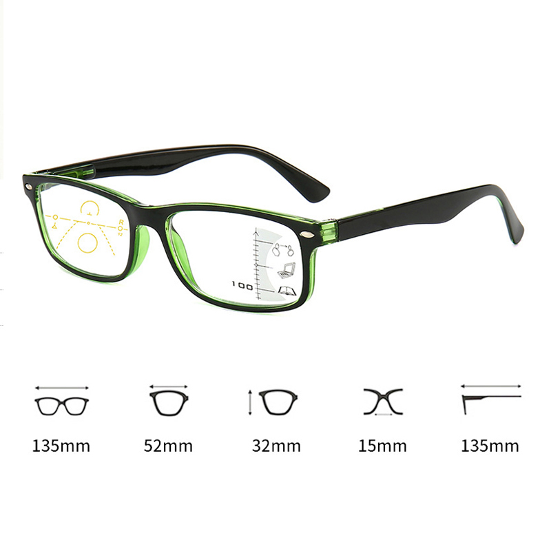 Seemfly Progressive Multifocal Reading Glasses Men Women Square Anti Blue Light Eyeglasses Near Far Sight Diopter 1.0 1.5 2.0 Eye Sight Glasses Goggles Home, Pets and Appliances 7fbb8c2a551aaaea0fd30c: +100|+150|+200|+250|+300|+350|+400