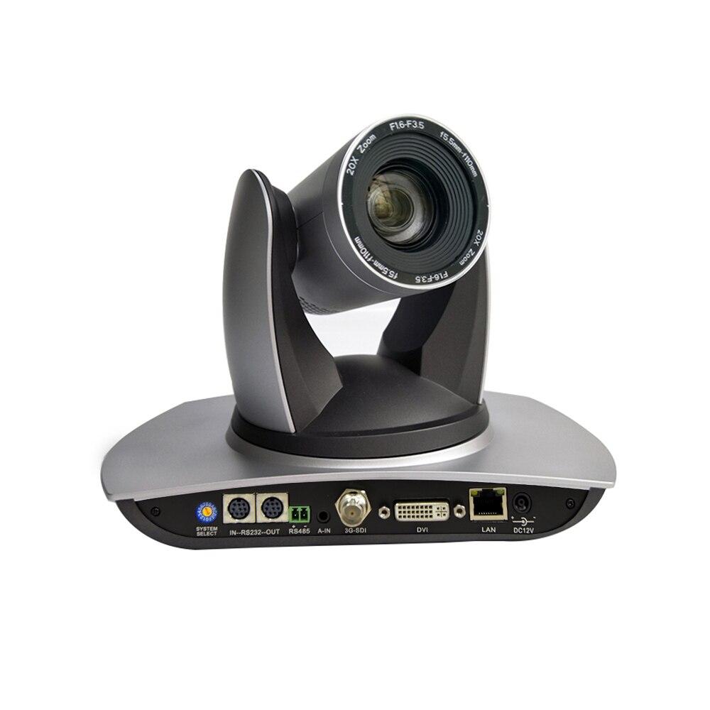 1080p 60fps 20x Optical Zoom Motorized Head Video Ptz Broadcast Cam Ip 3g-sdi DVI Output Silver Color