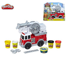 Hasbro Play Doh Color Mud Traffic Series Fire Truck Firetruck Children's Plasticine Toy E6103 Plasticine Tool Set
