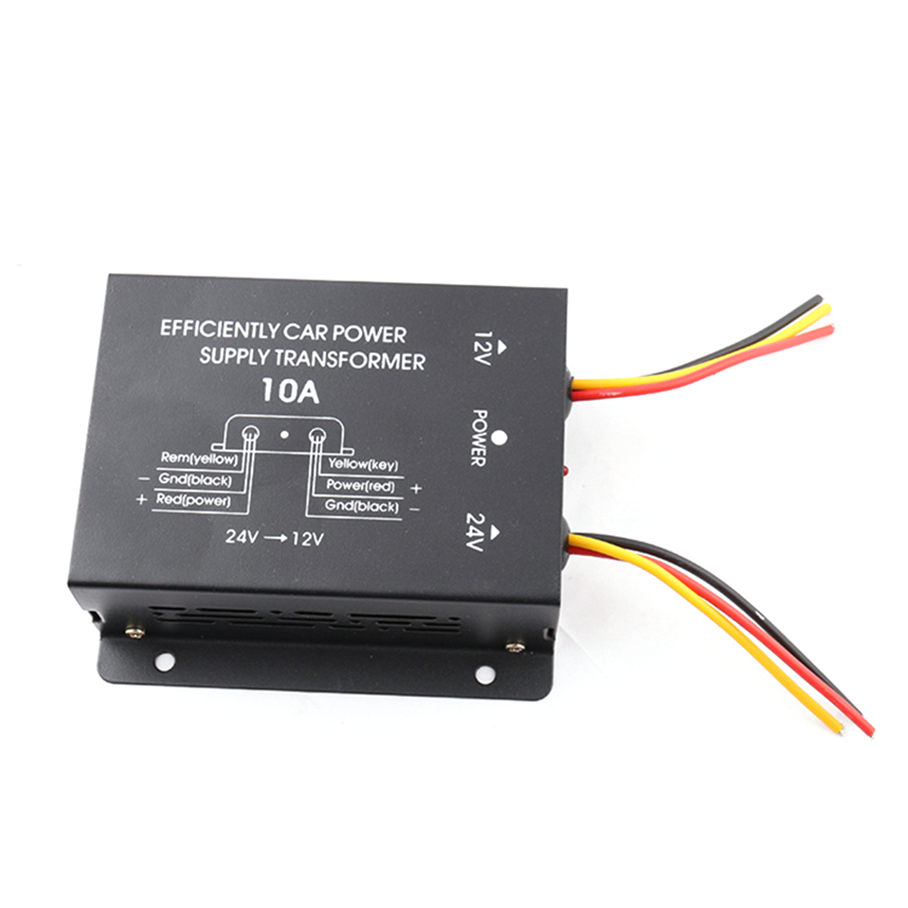 Car Power Supply Step-Down Transformer 24V To 12V Converter 10A 15A 20A 30A Output With Memory Power High To Low Inverter