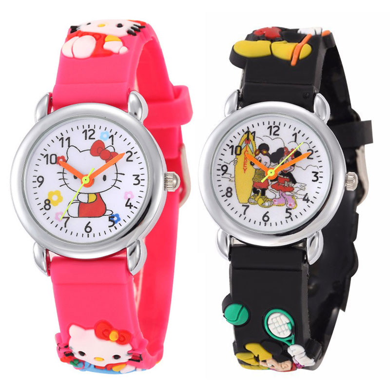 Cartoon  Children Watch  The Mouse   Superman  Spiderman  The Silicone  Kids Watches