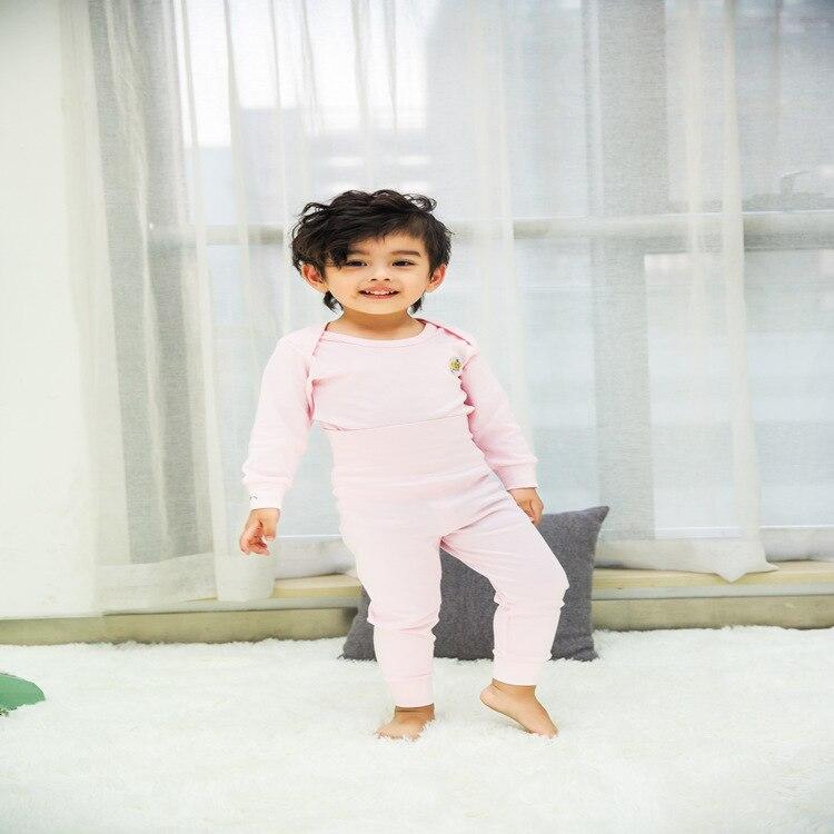 Soft As Brand Pure Cotton CHILDREN'S Underwear Suit Baby Open Crotch Thermal Underwear Newborns High-waisted Bellyband Clothes