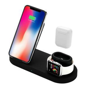 3-в-1 Беспроводной Зарядное устройство Base 10 Вт Bluetooth гарнитура для мобильного телефона, для iPhone, для iWatch, версия часы AirPods samsung huawei Xiaomi S9