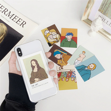 Oil painting card clear TPU phone Case For iphone