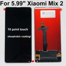 100% الأصلي ل شاومي Mi Mix2 LCD عرض 10 لوحة اللمس شاومي مزيج 2 MDE5 LCD محول الأرقام الجمعية استبدال الإطار