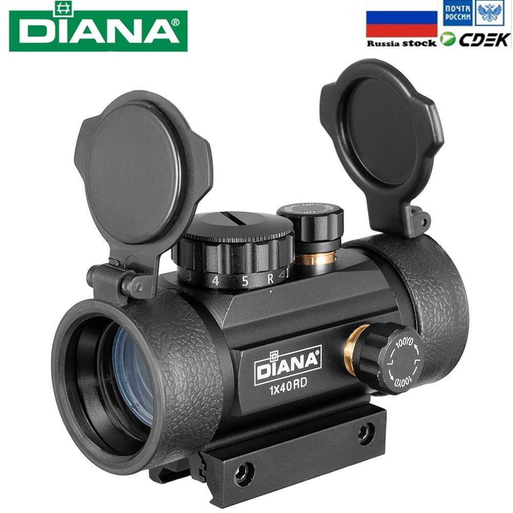 Diana 1X40 Rood Groen Dot Sight Scope Tactical Optics Riflescope Fit 11/20 Mm Rail Richtkijkers jacht