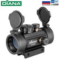 DIANA 1X40 красный зеленый точечный прицел тактическая Оптика прицел подходит 11/20 мм рельсовая винтовка прицелы для охоты