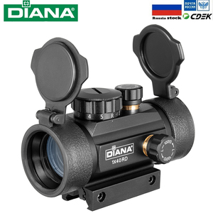DIANA 1X40 Red Green Dot Sight Scope Tactical Optics Riflescope Fit 11/20mm Rail Rifle Scopes Hunting(China)