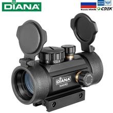 Тактический Оптический прицел DIANA 1X40, прицел с красной и зеленой точкой, подходит для охотничьей винтовки с направляющей 11/20 мм