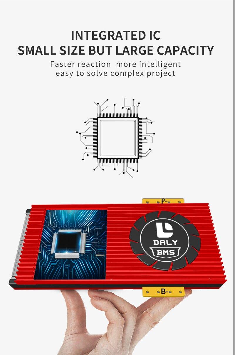 da bateria bms equilibrada lítio painel solar inversor