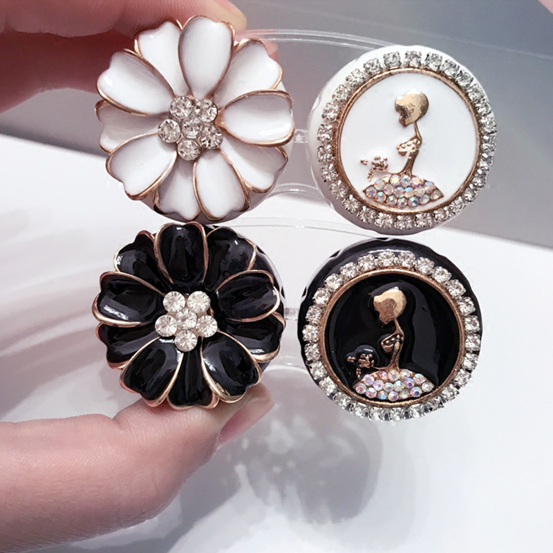 Fashion Flowers And Girls Contact Lens Case Women Contact Lens Box Container Holder Case Lovely Travel Pocket
