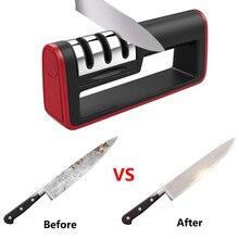 Трехступенчатая точилка для кухни с острыми краями, аксессуары для кухонных ножей H5