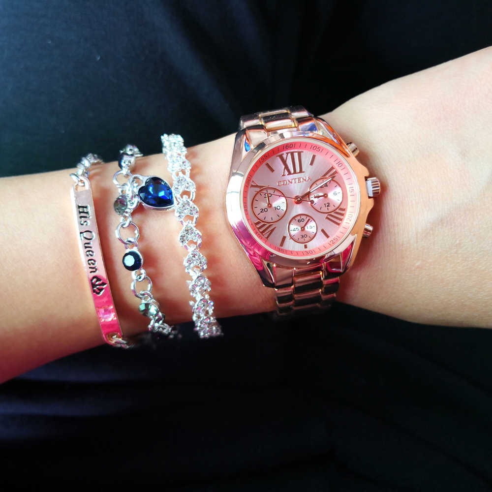 2020 neue frauen Uhren Gold Mode Kausalen Armbanduhr Luxus Marke Damen Uhr Edelstahl Weiblichen Uhr Relogio Feminino