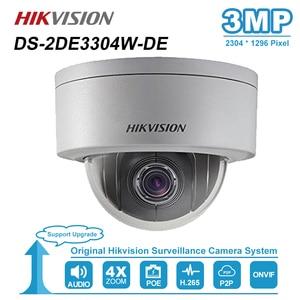 Image 1 - HIKVISION 3MP Mini Dome PTZ Camera IP 4X Zoom 2.8 12mm Khe Cắm Thẻ SD PoE ONVIF Ngoài Trời CAMERA QUAN Sát công DS 2DE3304W DE