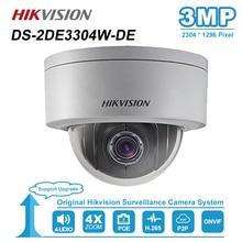 Hikvision 3MP Mini Dome PTZ IP Kamera 4X Zoom 2,8 12mm Audio SD Karte Slot PoE Onvif Outdoor CCTV Überwachung DS 2DE3304W DE