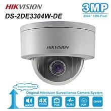 Hikvision 3MP Mini kopuła kamera PTZ IP 4X Zoom 2.8 12mm Audio gniazdo kart SD PoE Onvif na świeżym powietrzu CCTV nadzoru DS 2DE3304W DE