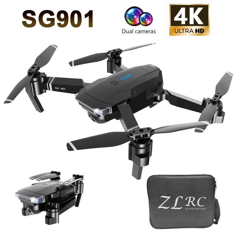 SG901 RC Drone 4 K/1080 P Caméra HD WiFi FPV Professionnel Flux Optique Caméra Drone 18 minutes RC quadrirotor VS Xs816 S17 SG106