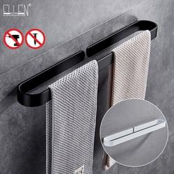 30-60 Cm Zwart Badhanddoek Houder Badkamer Handdoekenrek Geen Punch Handdoek Rail Rack Handdoek Houder Badkamer Opslag plank EL65B