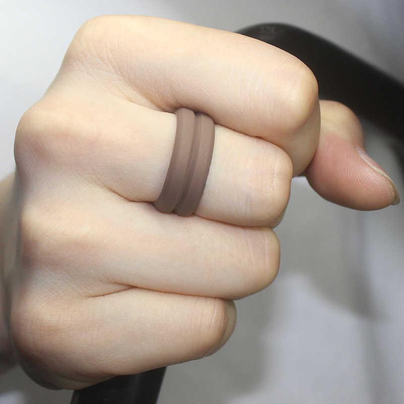 1pc elastyczne 8MM FDA klasy gumy silikonowej pierścień dla mężczyzn sport i na zewnątrz Ring Finger silikonowe wesele zespoły biżuteria męska
