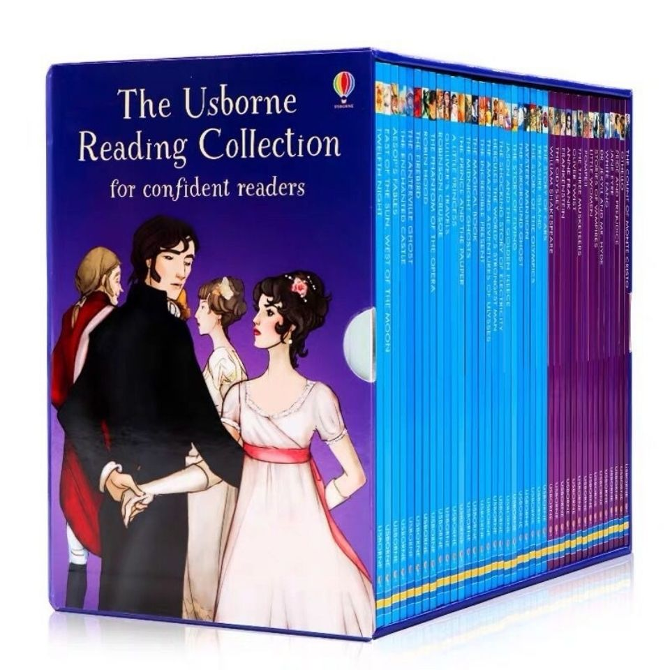 40 Books/set Usborne My third Reading collection library English Picture story books to help your child grow as a reader Libros